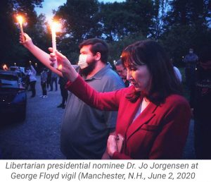 Jo at Candle Vigil in NH